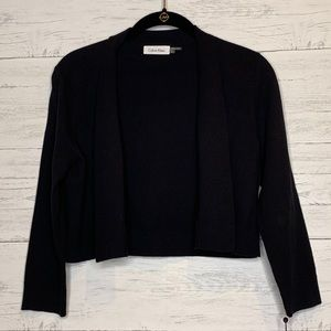 Calvin Klein Black Knit Shrug Cardigan NWT